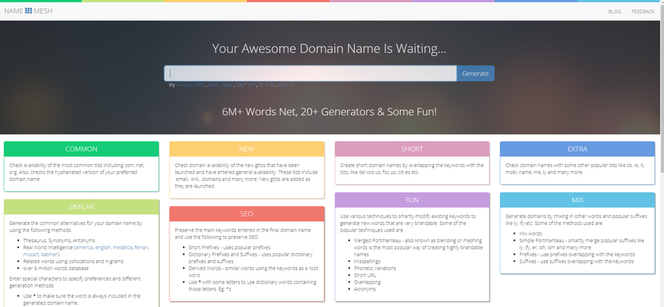 Generate the Best Domain Name with a Free Tool
