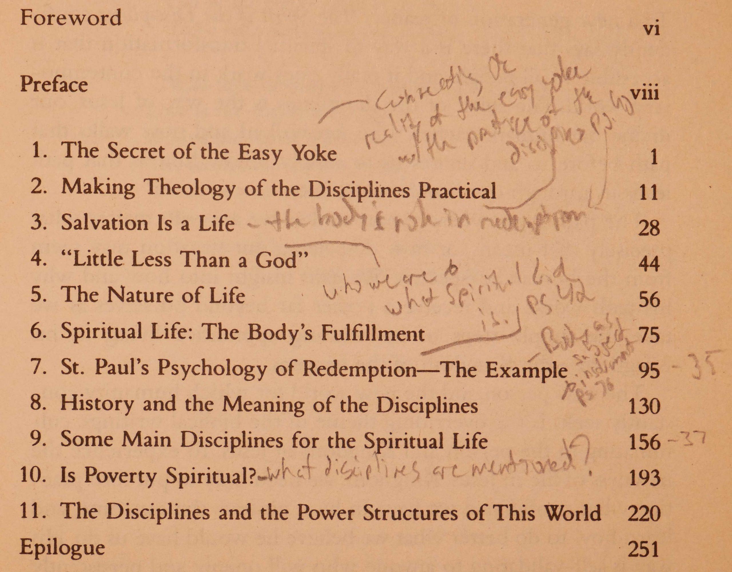 spirit of the disciplines chapter summaries
