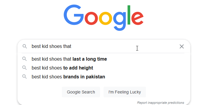 getting different autocomplete results