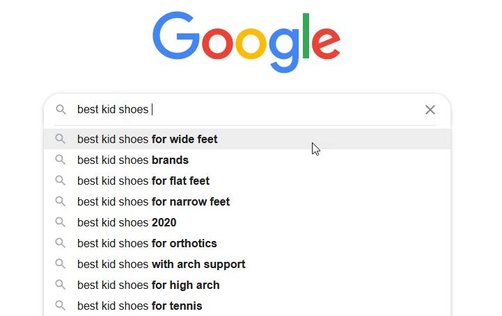 google autocomplete keyword ideas