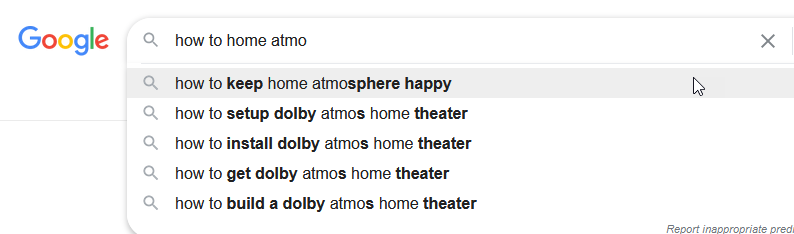 on with autocomplete