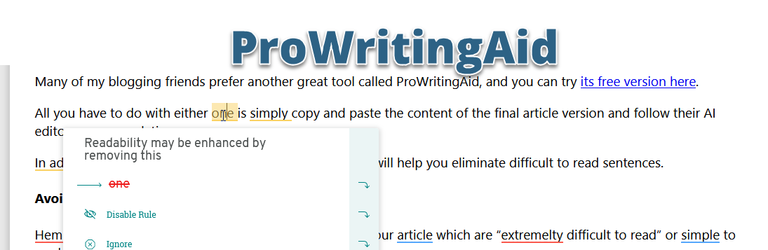 prowriting aid editor